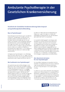 Patienteninformation zum Thema Psychotherapie